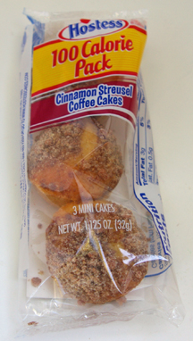 Hostess 100 calorie pack streusel