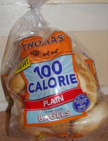 Thomas 100 calorie bagels